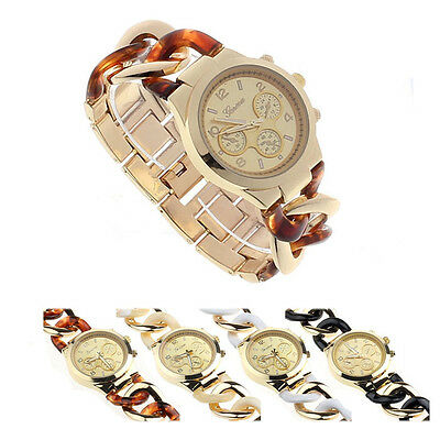 New Stylish Womens Analog Quartz Watch Fashion Stainless Steel Band Wristwatches