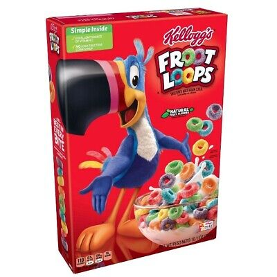 New Kellogg's Froot Loops Cereal 10.1oz BREAKFAST CEREAL FRUIT FLAVORED TOUCAN