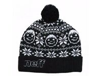 Neff Jens Beanie Woolley Black Hat Brand Tags