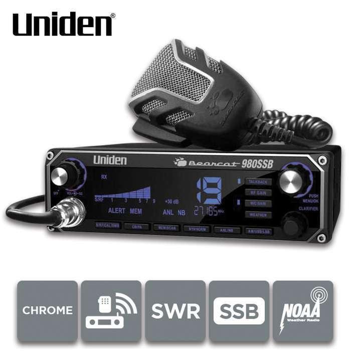 Uniden Bearcat 980 SSB Single Sideband 40 Channel CB Radio BC980SSB Digital