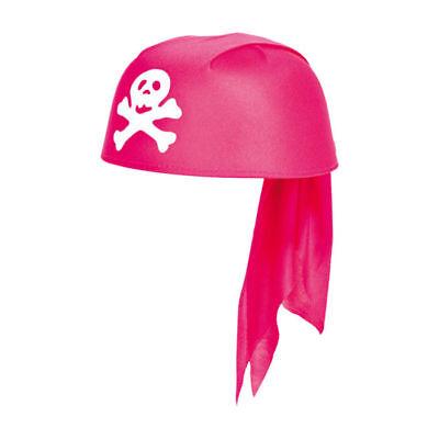 Hut Piratenkappe / Bandana für Erwachsene rosa Piratenhut Kopftuch