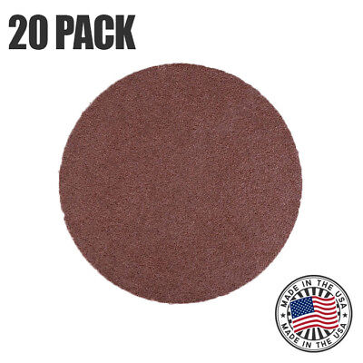 8 80 Grit Sanding Disc Aluminum Oxide Peel Stick Cloth Backed Discs - 20 Pack