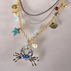 BRAND NEW Betsey Johnson Layered Necklace + Parrot Earrings Kitchener / Waterloo Kitchener Area image 3