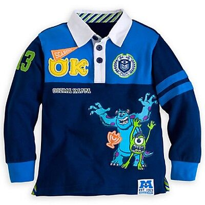 DISNEY STORE MU BOYS RUGBY POLO SHIRT NWT ~ GREAT DETAIL! VERY (Polo Kids Store)