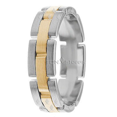 Watch Inspired 10K Gold Mens Womens Wedding Bands Rings Womens Mens Wedding Band