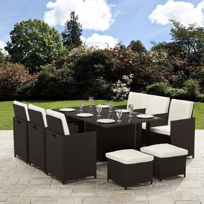 Wondrous Parkton 10 Seater Dining Set With Cushions And Parasol In Holborn London Gumtree Interior Design Ideas Tzicisoteloinfo