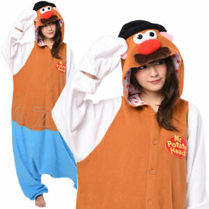 Mr Potato Head Kigurumi Onesie Costume Pajamas Cosplay