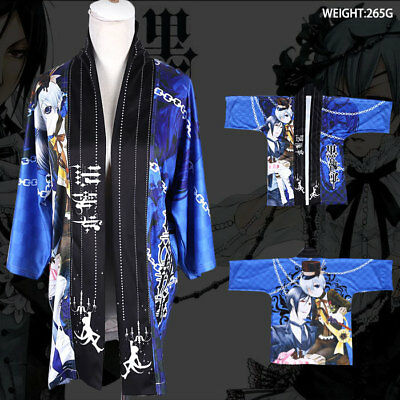 Japanese Anime Kuroshitsuji Coat haori cloak cos kimono Cosplay Costume Male - Anime Male Clothes