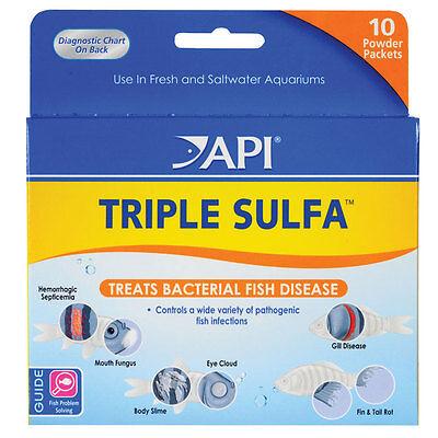 - API TRIPLE SULFA POWDER PACKS Anti Bacterial Aquarium Fish Medication Treatment