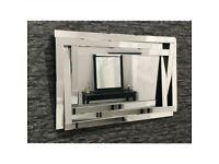 extra large 3d multi facet mirror 1.4metre x 1metre