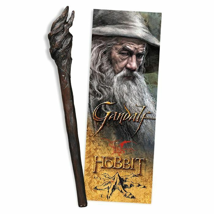 The Hobbit Gandalf Staff Replica Pen and Lenticular Bookmark - Noble Collection
