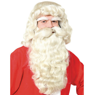 Perücke und Bart-Set Santa Claus, 3tlg. Kunsthaar Nikolausperücke