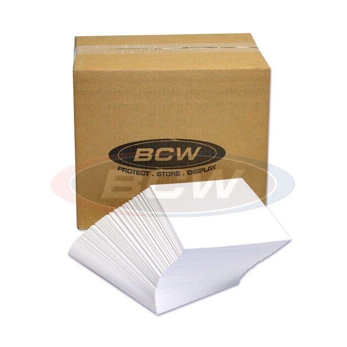 BCW Silver Comic Backing Boards Dealer Bulk Case of 1000 7x10.5 Quality 24Pt