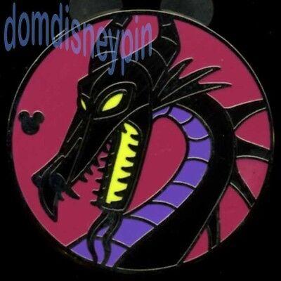 Disney Pin WDW 2015 Hidden Mickey *Good and Bad Dragons* Maleficent!