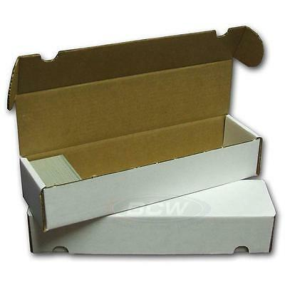 BCW 800 COUNT ct Corrugated Cardboard Storage Box - Sports/Trading/Gaming Cards - 800 Count Storage Box