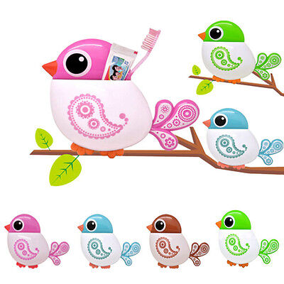 Cute Dsign Tooth Brush Holder Funny Attractive Bird Pattern Tooth Brush Holder