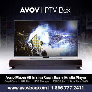 Avov Muze: Soundbar / IPTV Player Combo - Avovbox.com