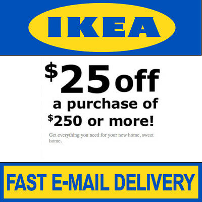Ikea Coupon 25 Off 250 Valid On Any Purchase In Store Only Exp 3320 80 Days