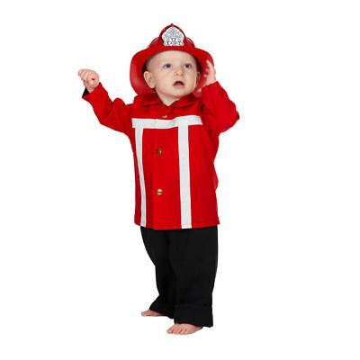 Kleinkind-Kostüm Feuerwehrmann rot Kinderkostüm Feuerwehrkostüm