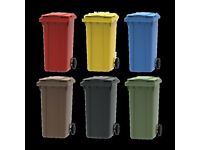 New Domestic 240 Litre Blue Brown Black Wheelie Bins Lisburn Dundonald Council Approved