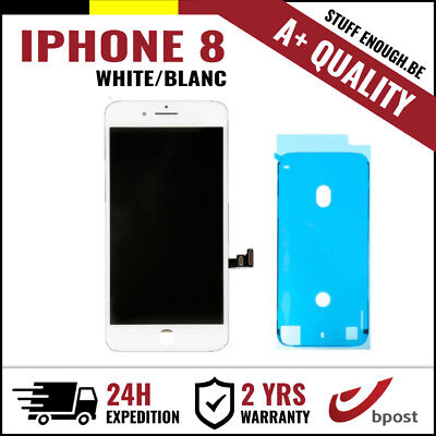 A+ LCD TOUCH SCREEN VITRE DISPLAY/SCHERM/ÉCRAN WHITE BLANC FOR IPHONE 8+STICKER