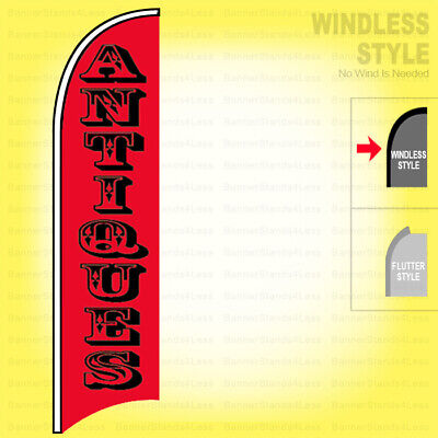 Antiques - Windless Swooper Flag 2.5x11.5 Ft Feather Banner Sign Rb
