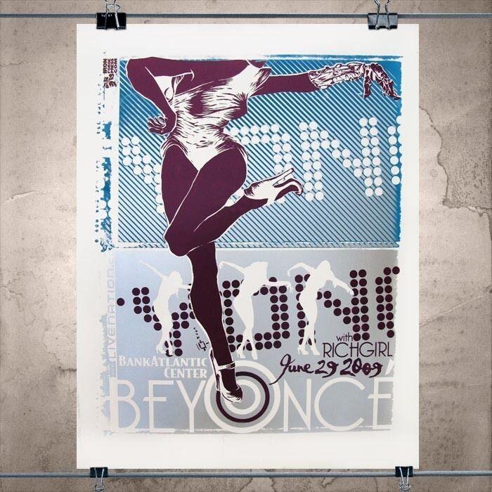 Beyonce! Original Art, Gig Poster, Sasha Fierce Limited Edition Signed by Artist