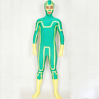 Kick Ass Adult Halloween Costume Superhero Cosplay Men's Zentai Full BodySuits - Kick Ass Costume