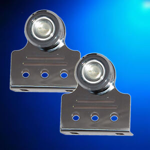 2-x-9W-BLUE-NEW-Underwater-LED-Boat-Trim-Tab-Light-S-S