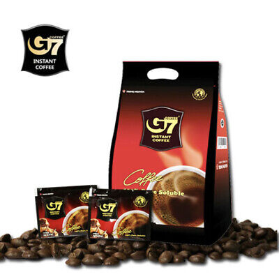 [G7 Coffee] Pure Black Instant Coffee 100 Sachets Powder Vietnamese (2g×100T)