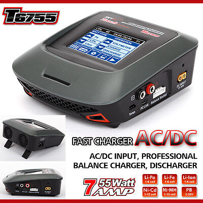 SKYRC T6755 Charger 1-15s Nicd 1-6s Lipo Battery Balance Charger from UK