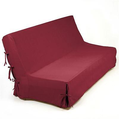 Housse clic-clac Rouge 100 % Cotton 140 x 200 cm Canapé Nouettes Belle Qualité