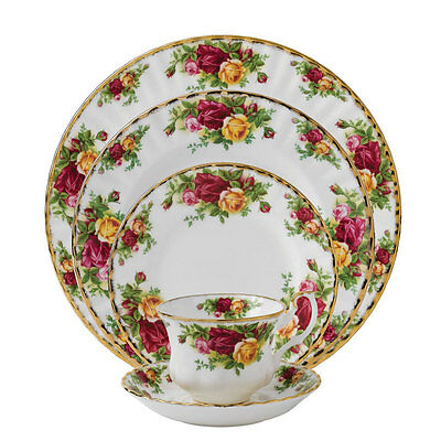 Royal Albert Old Country Roses 60Pc China Set, Service for 12
