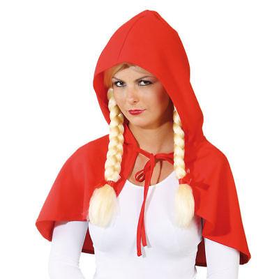 Rotkäppchen Kostüm Umhang, rot // Märchen Cape mit Kapuze // zum Binden