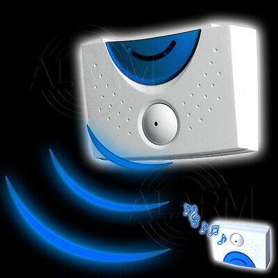 Durchgangsmelder m. Lichtsensor Zutrittsmelder Bewegungsmelder Hausalarm Sensor