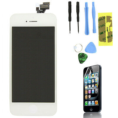 LCD Lens Touch Screen Display Digitizer Assembly Replacement for iPhone 5 White on Rummage