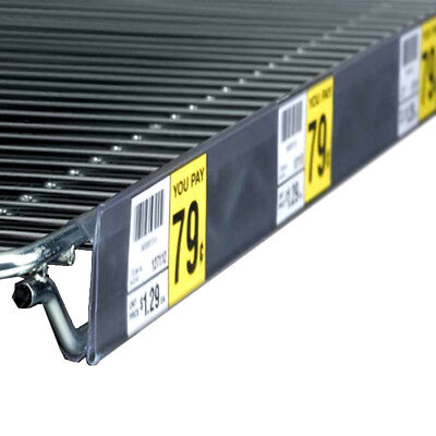 44 L X 1.25 H Wire Shelf Label Ticket Holder Strip For Nexel Or Metro Shelves