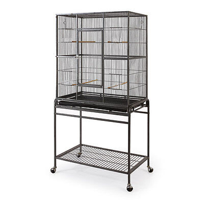 Fortress Flattop Bird cage on Castor Stand