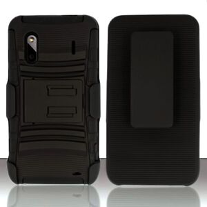 RUGGED HYBRID HARD CASE COVER BELT CLIP HOLSTER HTC EVO DESIGN 4G BOOST MOBILE