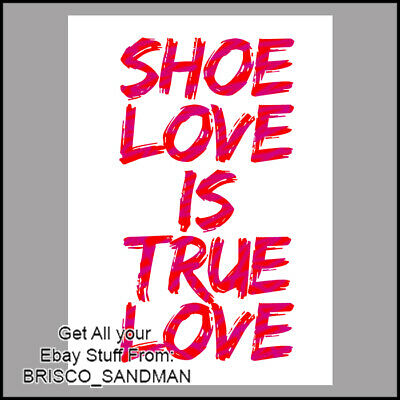 "Fridge Fun Refrigerator Magnet ""SHOE LOVE IS TRUE LOVE"" Cute Fun Shoe Love Quote for sale  Shipping to Canada"