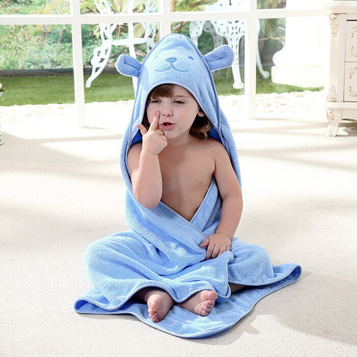 Baby Bath Towels Hooded Beach Wrap Poncho Large Soft Cotton