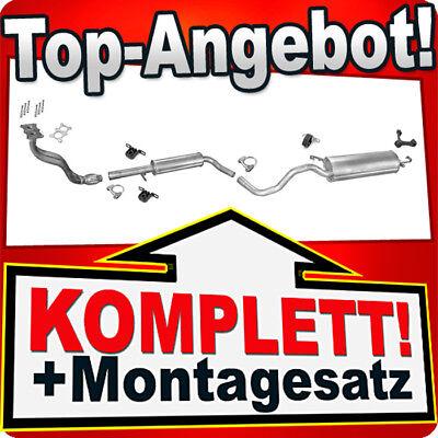 Auspuff VW GOLF 4 IV & NEW BEETLE 1.6 8V +Rohr Auspuffanlage B97C