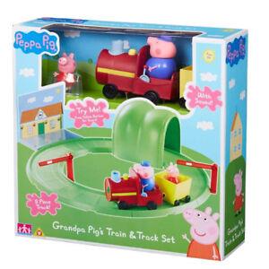 New Peppa Pig Grandpa Pig's Train & Track Set With Sound