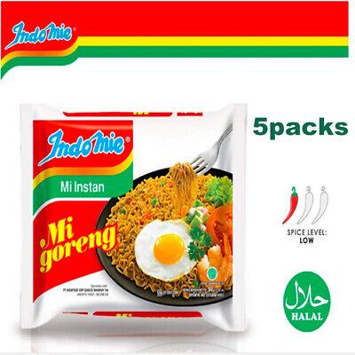 Indomie Mi Goreng Instant Stir Fry Noodles, Halal Certified, Original 5 pcs