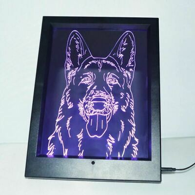 German Shepherd Face Colour Changing RC LED Mirror Light (Face Change Frame)
