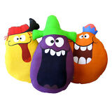 Funny Face Pillows 3 Piece Pillow Doll Set Kooky Cushions - Brand New