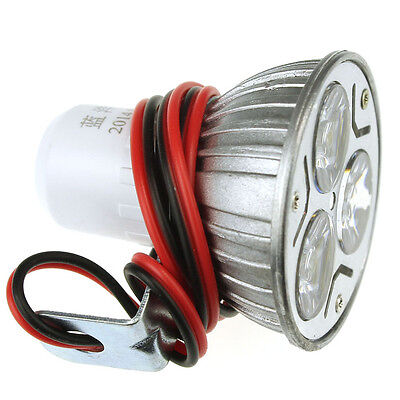 3W DC12-100V Motorcycle Electric Bike Bicycle Waterproof Bright LED Headlight