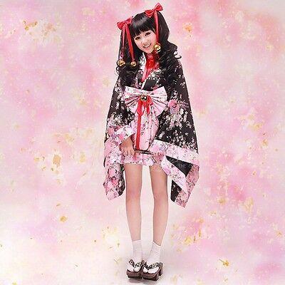 Cute Japanese Halloween Costumes (Anime Cosplay Cute Sexy Lolita Halloween Fancy Dress Japanese Kimono Costume)
