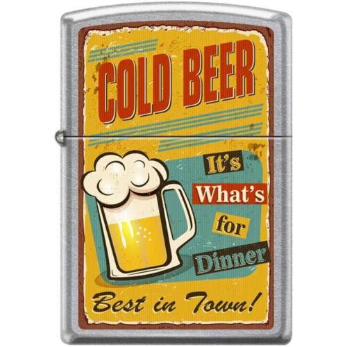 Zippo Lighter - Cold Beer for Dinner Street Chrome - 854719