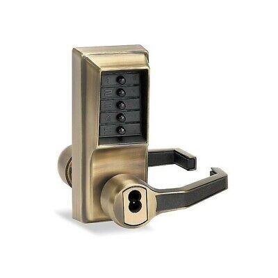 Kaba Simplex Lr1021 Pushbutton Lockantique Brass - Lr1021b0541